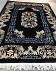 """AN AWESOME ANTIQUE ART DECO CHINESE BLACK COLOR 7' X 10'3"""""""