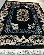 New listing An Awesome Antique Vintage Design Art Deco Chinese Black Color 7' X 10'3�