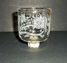 Daisy Flowers Votive cup w/ rubber grommet