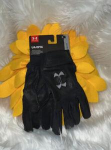 UA Epic Under Armour Men's Sz XL Baseball Batting Gloves 1318097-001 Black New