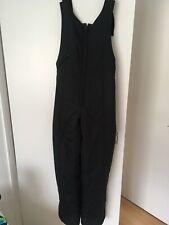 Ladies Medium Black Salopettes / Bib Steiner Ski Wear