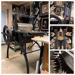 Old Intaglio Etching / Printing Press