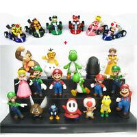 Super Mario Bros Toy Figures 24 Pcs Set Luigi Toad Yoshi Cake Toppers Party Gift
