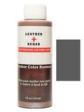 Leather Rehab Color Restorer - Dark Gray - Repair Couch Car Seat Furniture Purse