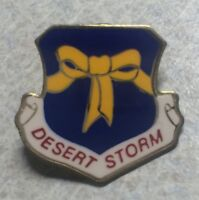 DESERT STORM ~ Yellow Ribbon Troop Support Military Lapel Hat Pin    [A]