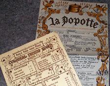 2 Vintage 60's/70's LA POPOTTE & ACACIA RIDGE HOTEL RESTAURANT Menus-AUSTRALIA