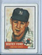 1990 Hamilton Collection Whitey Ford 1953 Porcelain Reprint Card #207 YANKEES
