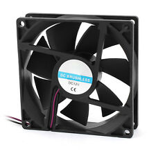 90 x 25mm 9025 2pin 12V DC Brushless PC Case CPU Cooler Cooling Fan DT