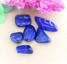 6 x Lapislazuli Trommelstein Edelstein 42 Gr ,schöne blaue  Farbe ( K-57 )