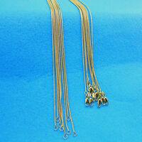 "10PCS Wholesale 16-30""18K GOLD Filled Snake Necklace Chains For Pendants Fashion"