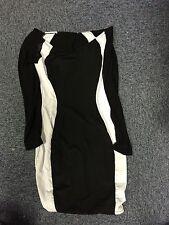 Stunning Black And White Dress New
