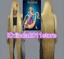 Disney Movie Tangled Rapunzel long blonde cosplay wig wavy cos full wig 100cm
