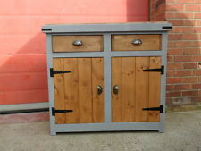 Rustic Solid Pine, Chunky, Handmade Cupboard. Butchers Block Style. Cafe / Deli