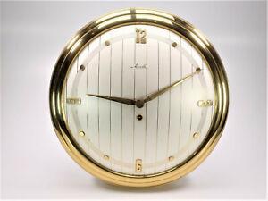 Mauthe alte Wanduhr Messing 130/109 ca.50er Jahre Grossuhr Uhr NEU NOS; K85 160