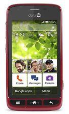 """Doro Liberto 820 Mini SIM-Free Android 3G 4"""" Smartphone - Red (420447)"""