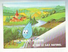 carte postale neuve - methanie le gaz naturel - dos vierge -