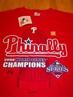 PHILADELPHIA PHILLIES PHINALLY MLB WORLD SERIES CHAMPIONS T-Shirt LARGE NEW