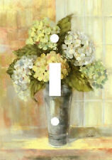 YELLOW & WHITE HYDRANGEA FLOWERS VASE LIGHT SWITCH PLATE COVER