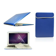 "4 in1 Crystal ROYAL BLUE  Case for Macbook Air 11""+Keyboard Cover+LCD Screen+Bag"