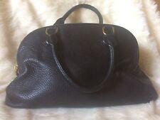 J. Crew Biennial Satchel Black Pebbled Leather Women's bag  large!!
