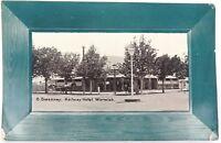 ".SCARCE 1910 ""RAILWAY HOTEL, WARWICK"" POSTCARD."