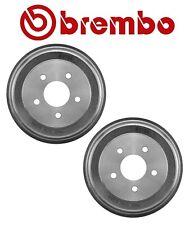 Pair Set of 2 Rear Brake Drums 230mm Brembo For Chevrolet Cobalt HHR Pontiac G5