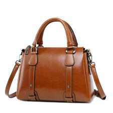 Genuine Leather Women's Classic Handbag Crossbody Shoulder Bag Satchel Tote Bag