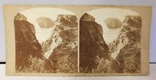 """Vintage Ireland Co. Antrim Stereo View Card """"The Rope Bridge Carrick-A-Rede Rare"""