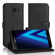 Samsung Galaxy A3 2017 Leder Hülle Schwarz, Simpeak PU Leder Flip Case Cover