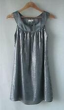 BeBe Sydney sz 10 Silver Grey Sequin Dress