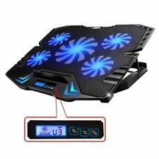 "Laptop Cooling Pad Cooler Chill Mat 5 Fan 5 Led Light for 12-15.6"" Notebook"