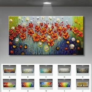 Beautiful Flowers For Home Decorations Handmade Abstract Canvas Oil Paintings