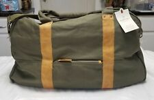 Hearth and Hand With Magnolia Green Canvas Leather Weekender Bag Large