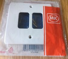 MK Electric 2 Gang Moulded Frontplate White K3632WHI