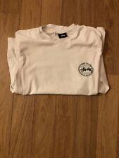 Stussy long sleeved white t shirt, Men's size small