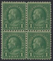 US Stamps - Scott # 581 - p.10 Franklin Block of 4 - Mint Never Hinged   (Q-265)
