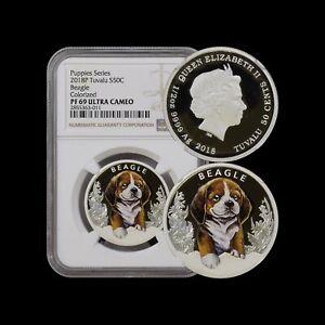 2018 Tuvalu 50 Cents (Silver) - NGC PF69 UC - Beagle Puppy RARE