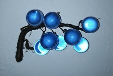 VINTAGE BLUE GLASS CLUSTER OF GRAPES