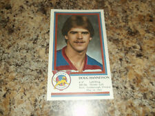1982-83 VICTORIA COUGARS DOUG HANNESSON WHL PLAYER CARD (B)