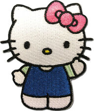 HELLO KITTY - HELLO KITTY 04 PATCH blue uniform waiving with pink bow