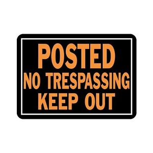 Hy-Ko Aluminum Sign,No Trespassing Property Sign (Pack of 12) 1