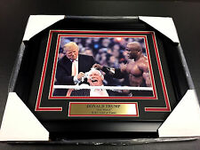 DONALD TRUMP WWE WRESTLEMANIA HAIR MATCH VINCE MCMAHON FRAMED 8x10 PHOTO