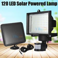 120 LED Solar Powered Motion Sensor Security Floodlight Lamp Outdoor Garden USA