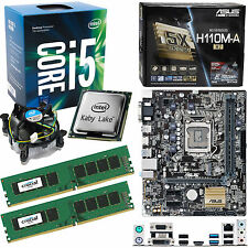 INTEL Core i5 7600 3.5Ghz (4.1Ghz), ASUS H110M-A/M.2 & 16GB 2133Mhz DDR4 RAM