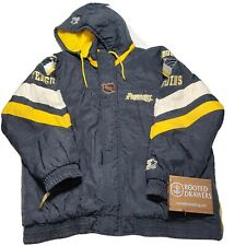 New listing Vintage 90s Pittsburgh Penguins Hockey Center Ice Starter Black Puffer Jacket Lg