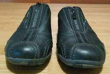 Merrell Barrado Womans Shoes 6 Black Leather Outdoor Hiking Slip On Zip Up Sport