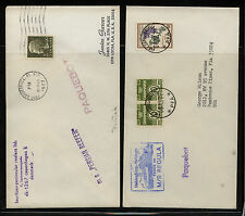 Denmark 2 paquebot covers Regula and Persian reefer Kl0122