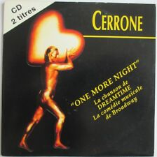 "CERRONE - RARE CD SINGLE ""ONE MORE NIGHT"""