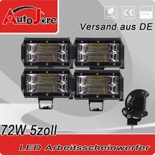 4x72w LED Arbeitsscheinwerfer Boot Traktor SUV Lichter 5inch Light bar Werklampe