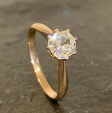 TRAUMHAFTER RING MIT ALTSCHLIFF DIAMANT 0,91ct I / VS1 in 585 / 14K GOLD OLD CUT